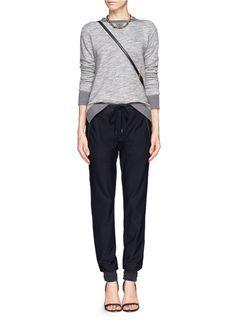 RAG & BONE - Lena bonded mesh sweatpants   Black Casual Pants   Womenswear   Lane Crawford - Shop Designer Brands Online