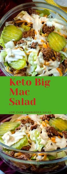 I kid you not, this tastes JUST like a Big Mac, except it's low carb and you know exactly what went into it. Keto Foods, Ketogenic Recipes, Low Carb Recipes, Diet Recipes, Healthy Recipes, Ketogenic Supplements, Dessert Recipes, Delicious Recipes, Diet Desserts