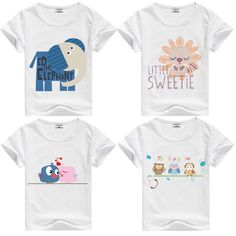 Awesome DMDM PIG Kids Blouses Children's Clothing Baby Boy Girl Clothes T Shirt Short Sleeve T-Shirts For Boys 10 Years Girls Tops Horse - $8.85 - Buy it Now!