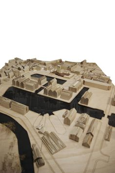 1:500 Site Model - Architecture Degree Project. Bathing by the dock - the Gloucester LidoSpa by Michael Lewis