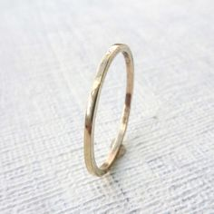 Thin Gold Wedding Band Skinny gold wedding band ring Thin wedding