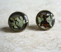 Black Lichen Studs - Bold/Striking - Style