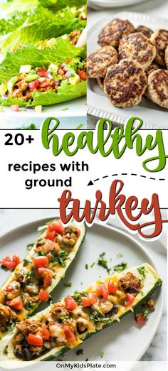 These easy and healthy ground turkey recipes are the best for dinner! Find ground turkey ideas for the crockpot, lean burgers for the BBQ, a casserole or an idea for a quick stovetop dinner that takes less then 30 minutes. The whole family including picky Healthy Turkey Recipes, Healthy Breakfast Recipes, Healthy Dinner Recipes, Beef Recipes, Whole Food Recipes, Healthy Ground Chicken Recipes, Health Recipes, Summer Recipes, Healthy Snacks
