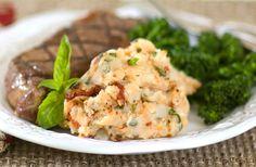 Sun-Dried Tomato & Basil Mashed Potatoes #MezzettaMemories