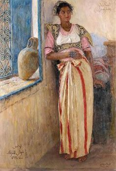 View Mannoubiyya - portrait of a Tunisian woman By Alexandre Roubtzoff; Oil on canvas; 117 x 80 cm; Access more artwork lots and estimated & realized auction prices on MutualArt. Art Tribal, Academic Art, Historical Art, North Africa, Indian Art, Portrait, Oeuvre D'art, Painting Inspiration, Oil On Canvas
