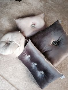 4 x Kylie Minogue at Home Cushions Small Pillows, Sofa Pillows, Decorative Pillows, Kylie Minogue At Home, Double Duvet Set, Living Room Cushions, Luxury Cushions, Luxury Bedding Collections, Grey Bedding