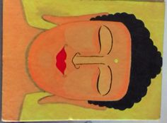 Meditating Buddha Painting.