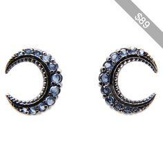 Hugau Blue moon earring