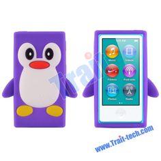 Penguin Soft Silicone Case for iPod Nano 7th Generation (Purple)