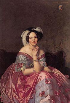 Baronne James de Rothschild  ~ Jean-Auguste-Dominique Ingres ~ (French, 1780-1867)