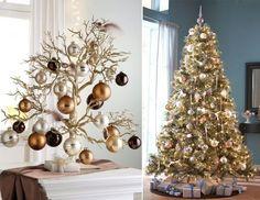 Weihnachtsbaum künstlich braun beige modern originell