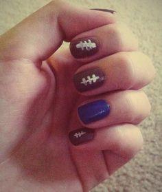Sarah, football nails!