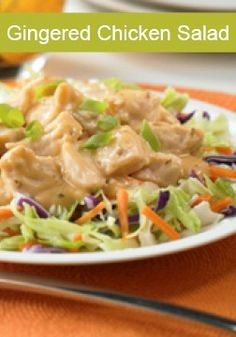 Gingered Chicken Salad is a refreshing, quickly prepared, no cook salad that will be a hit all summer!