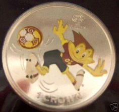 UEFA Euro 2004 Portugal Soccer Football IOM Crown Coin