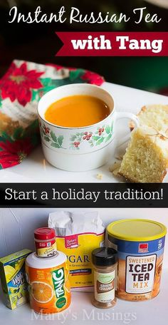 Holiday traditions are an important part of celebrating the strength of family bonds. Join Marty's Musings as she shares the joy behind her Instant Russian Tea with Tang recipe. This old holiday favorite will become your family's favorite, too!