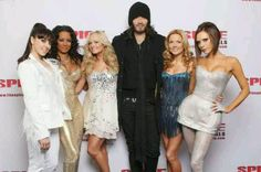 Russell Brand & the Spice Girls (Later, Geri and Russel would date.)