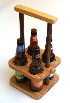 Adjustable height bottle carrier with built in opener