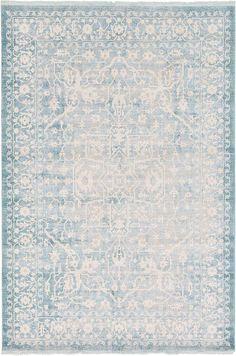 Light Blue New Vintage Area Rug