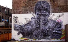 Image of GAIA piece courtesy and copyright of Pawn Works - via brooklynstreetart.com