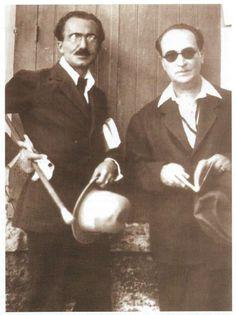 Ο Νίκος Καζαντζάκης και ο Άγγελος Σικελιανός
