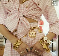 All Chanel everything for our because cult vintage fashion doesn't get any better than millennial pink gingham co-ords. Chanel Vintage, Chanel Pink, Chanel Chanel, Chanel Couture, Chanel Coat, Chanel Outfit, Chanel Runway, Chanel Beauty, Chanel Style