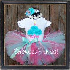 BABY CAKES   Includes Birthday Tutu Skirt Set by OhSweetPickles