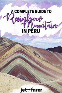 After seeing photos of Peru's Rainbow Mountain, who wouldn't want to visit? Here's our complete guide on how to visit Vinicunca, or the Rainbow Mountain. #Peru | hiking in south america | rainbow mountain peru | things to do in peru | places to visit in peru | peru travel | south america travel | things to do in cusco | outdoor travel | things to do in South America #southamericatravel