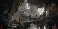 ArtStation - The Witcher 3 Blood and Wine cave, Andrzej Dybowski