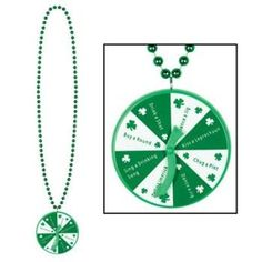 Beads w/St Patrick Spinner Medallion Party Accessory (1 count) (1/Card)