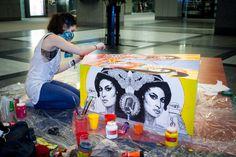 Art Souterrain 2013. Assise créative ARTV par Miss Me. Cosmos Image.