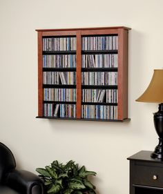 Cherry & Black Double Wall Mounted Storage – Wholesale Furniture Brokers