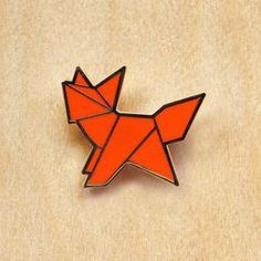 Image of Origami pins: Fox