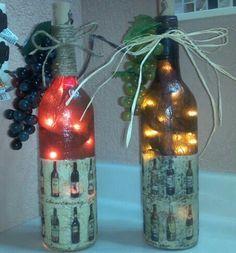More diy lighted wine bottles!