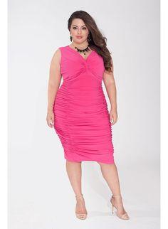 7598ab3e1cbb9 Sonia Plus Size Dress in Fuchsia found  igigi.com Plus Size Formal Dresses