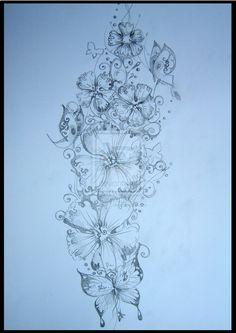 tatto flower drawings | flower design tattoo by danira designs interfaces tattoo design 2009 ...