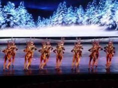 Rockette's tap dancing at Radio City's Christmas Spectacular
