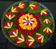 new Ideas for flowers arrangements bouquets simple Simple Rangoli Designs Images, Rangoli Designs Flower, Rangoli Patterns, Colorful Rangoli Designs, Rangoli Ideas, Flower Rangoli, Beautiful Rangoli Designs, Easy Rangoli, Flower Mandala