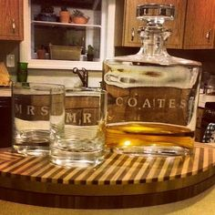 #DIY Waterford Decanter Set by @Darby Smart http://www.darbysmart.com/projects/love-and-scotch-decanter-set#opi142783247