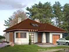 Projekt Gucio, ciekawie dobrana kolorystyka,liczne wstawki drewniane. Stworzony przez architektów z pracowni Dominanta. Dostępny na stronie http://www.dominanta.pl/