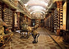 The National Library of the Czech Republic at the Clementinum university complex in Prague