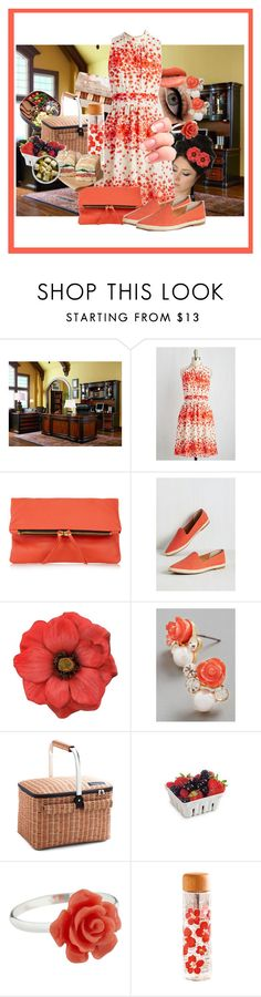 """""""Office Lunches"""" by gabi-girl ❤ liked on Polyvore featuring Ladurée, Monday, Maje, Seychelles and Van Peterson 925"""