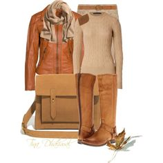 """""""FALL IS HERE"""" by tinadhaliwal on Polyvore dressy casual outfit"""