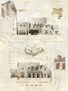 ARQUITECTURA DE MICHAEL ABRAHAM | Hinsdale Classical Architecture, Residential Architecture, Contemporary Architecture, Architecture Details, Clarendon Hills, Vintage World Maps, Architecture Illustrations, Architecture Sketches, Drawings