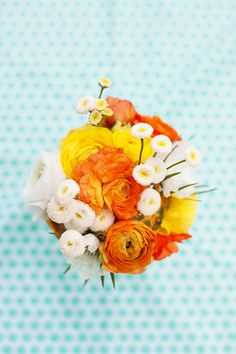 bright ranunculus centerpiece
