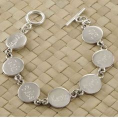 Mother's Bracelet with Children's Names - Sterling Silver
