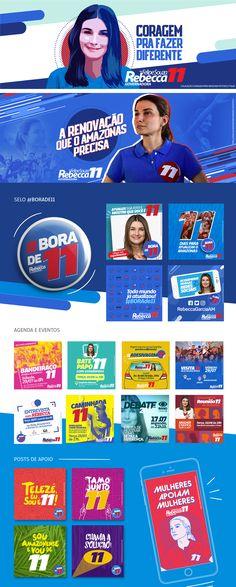 Campanha Política Rebecca on Behance Social Media Art, Social Media Banner, Social Media Template, Social Media Marketing, Social Campaign, Political Campaign, Campaign Logo, Design Poster, Ad Design