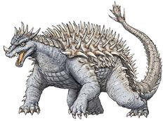 Image result for Anguirus Godzilla Franchise, Classic Monsters, Concept Art, Lion Sculpture, Statue, Geek Culture, Image, Japan, Monsters