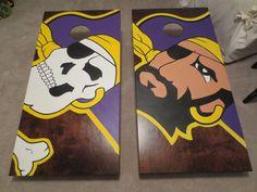 ECU Pirate Nation | ECU Cornhole Boards, these are badass
