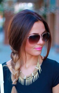 Ombre braids, aviators, and gold jewelry. Bring on summer!