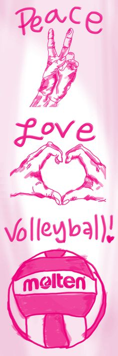 Peace, love, volleyball! #Volleyball